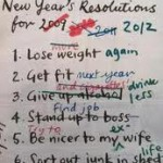 Image of new year&#039;s resolutions based on list of previous years