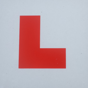Image of a learner plate